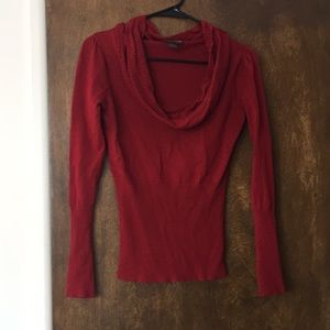 Sweaters - Red scoop neck sweater